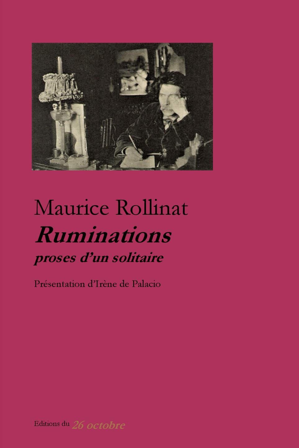 Ruminations, proses d'un solitaire de Maurice Rollinat.